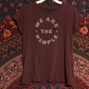 "Abercrombie and Fitch ""we are the people"" shirt"